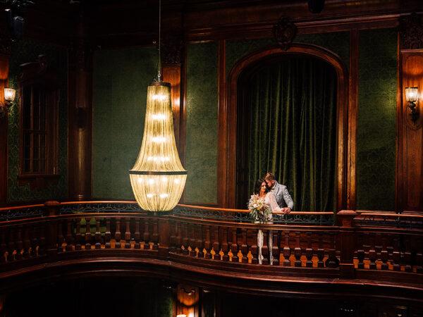 sesja ślubna w pałacu